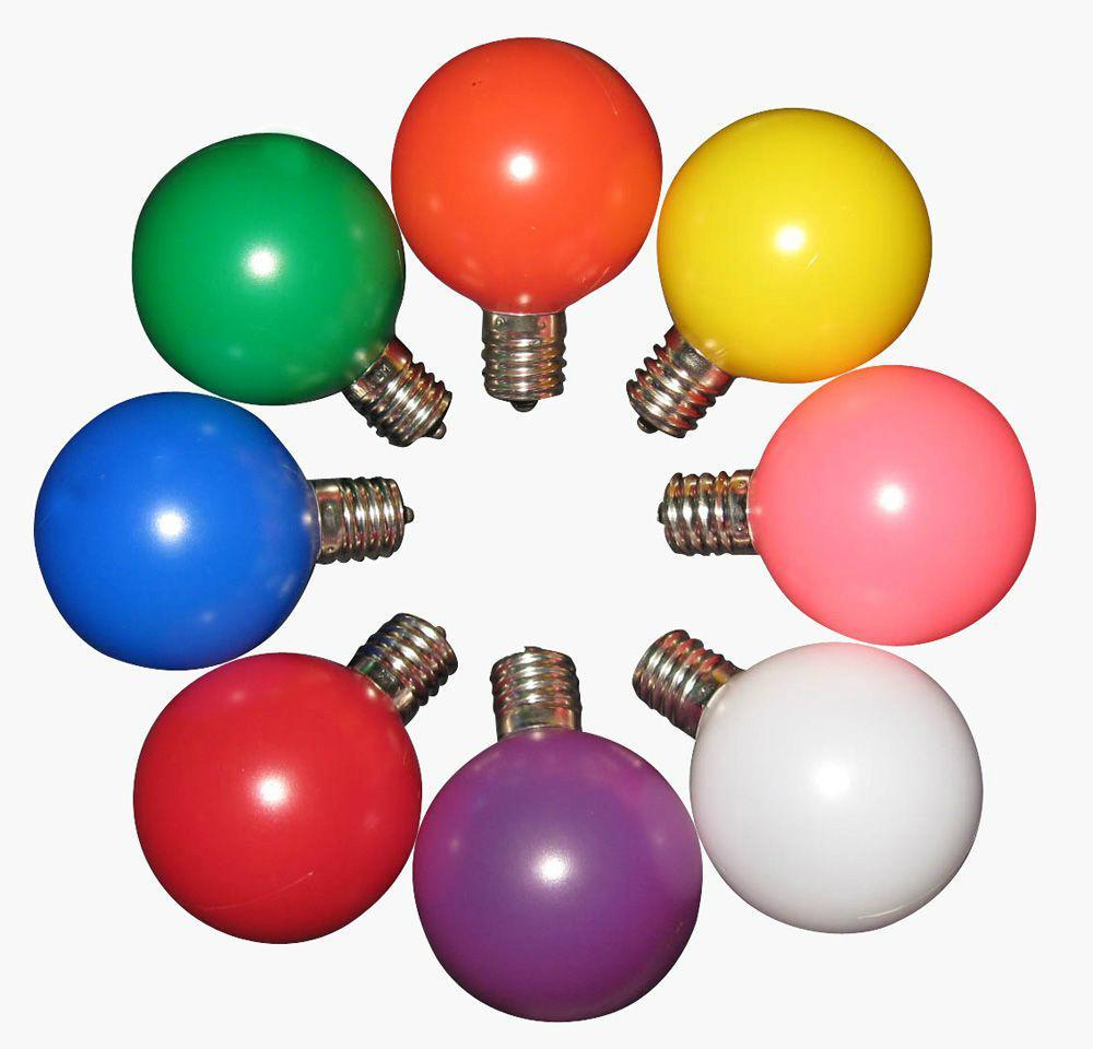 Holiday G50 LED Globe Bulbs  1
