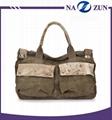 2016 wholesale promotional shoulder bag for men canvas handbag China manufacture