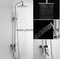 The temperature of copper shower set