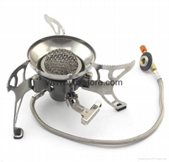 Outdoor camping gas stove head
