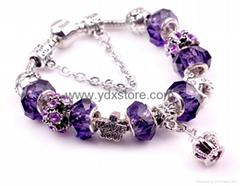 925 bracelet Crystal bracelet,Diamond lampwork beads 925 Crystal Bracelet (Hot Product - 1*)