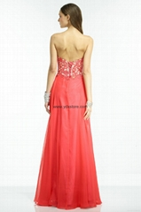 Lace Up Corset Coral Sweetheart Chiffon Princess Maternity Evening Dress