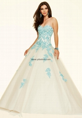 Ivory Sweetheart Tulle Ball Gown Prom