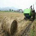 Walking straw baling machine, hay baling machine