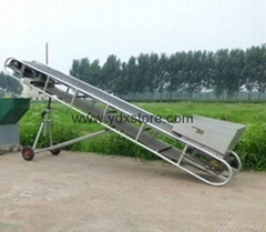 Mobile belt conveyor, grain loading conveyor