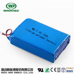 li-polymer batttery 7.4V 10ah polymer lithium battery for street light