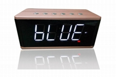 Compact size Strong bass Alarm clock HIFI hand free phone call Bluetooth speaker