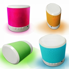 Portable Design Mini Alarm clock LED Lamp Bluetooth speaker