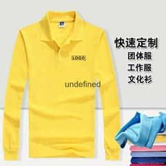 云南翻领广告T恤纯棉短袖