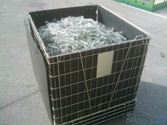 Hot Sale Folding Wire Mesh Container for PET Preform Storage