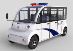 新款6座8座封闭电瓶电动观光车