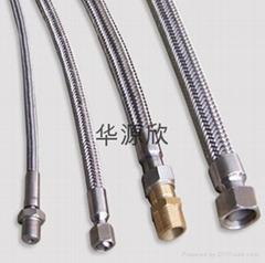 304不鏽鋼絲編織鐵氟龍軟管