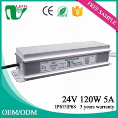 Waterproof  led driver 24V led power supply IP67 Constant Voltage LED driver