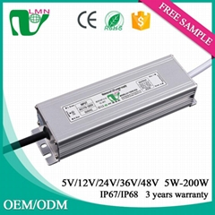 ce rohs approved waterproof constant led driver 50W 12VDC