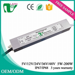 24V 36W waterproof constant voltage led driver