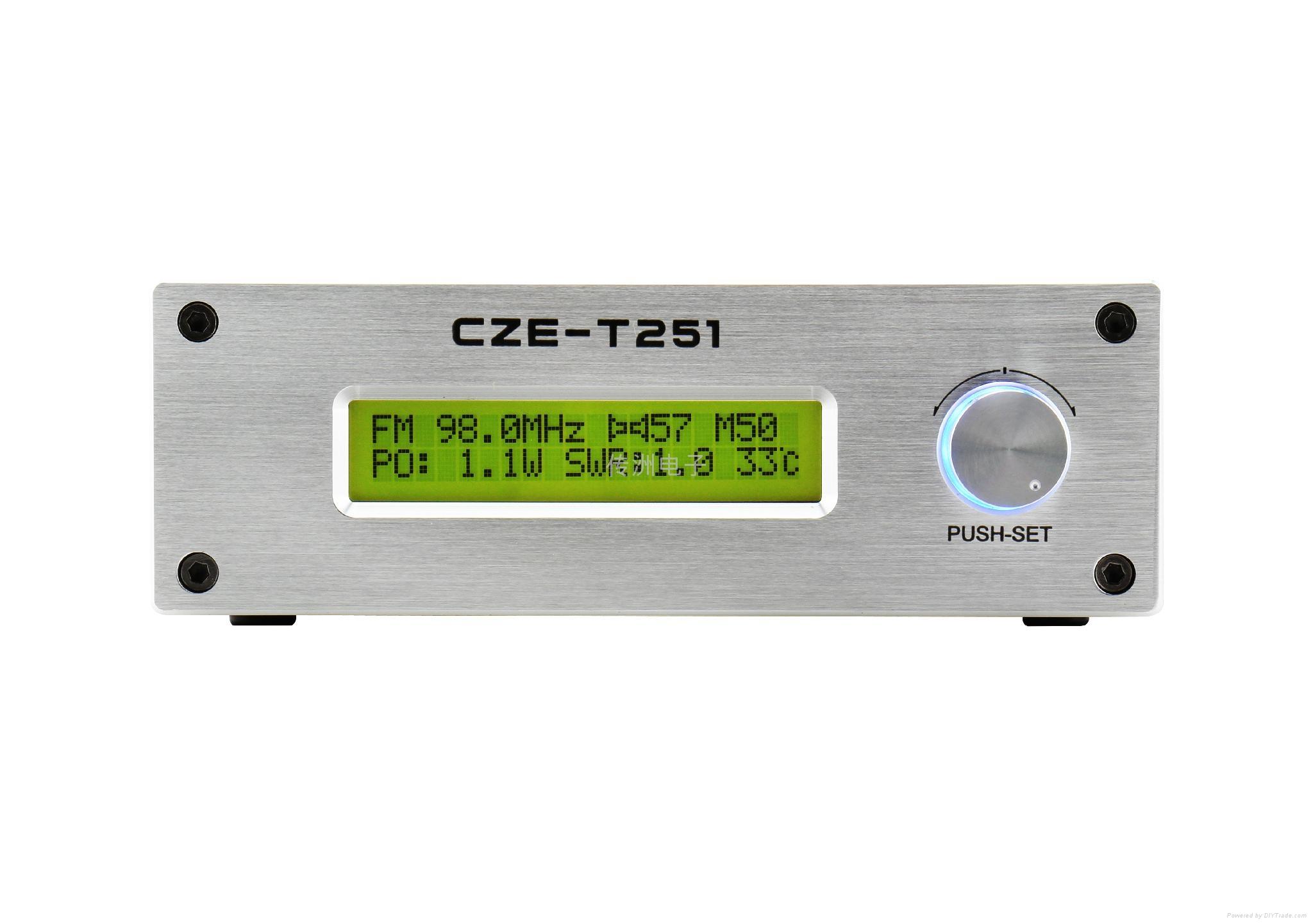 Power  USA 25W FM Stereo Broadcast Transmitter CZE-T251