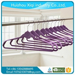 High quality no slip flocked hanger factory in China