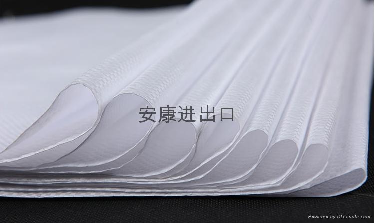 亮白色防潮彩印加厚编织袋  2