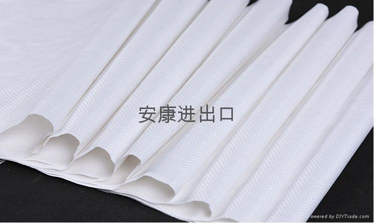 亮白色防潮彩印加厚编织袋  3