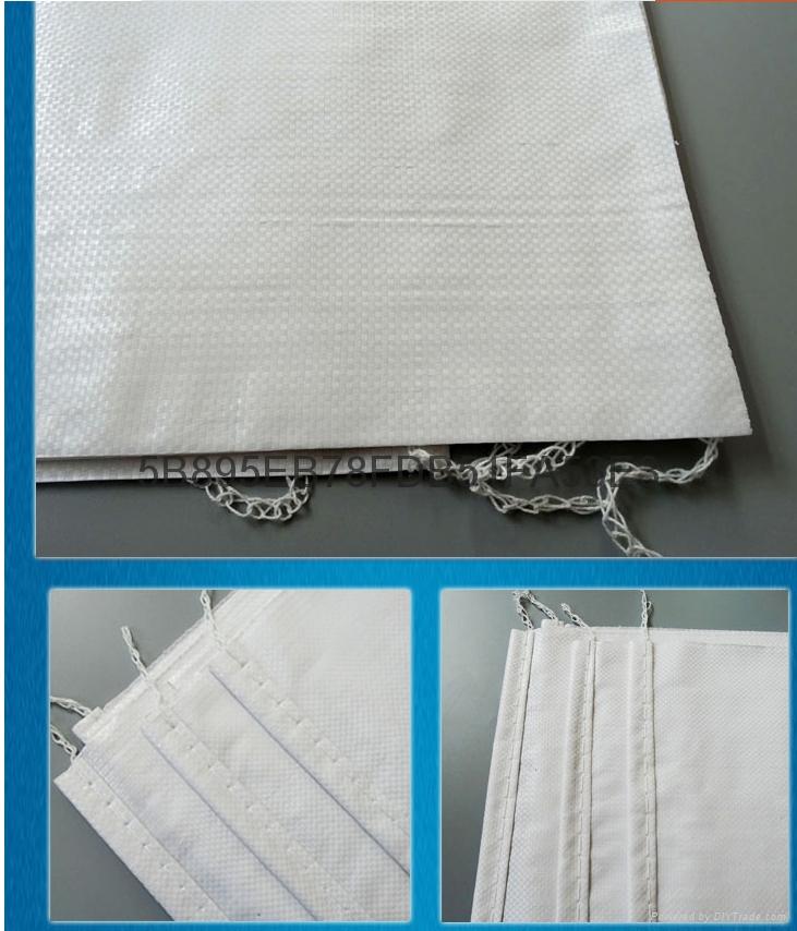 亮白色防潮彩印加厚编织袋  5
