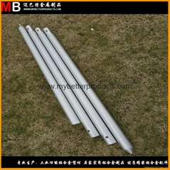 Silver aluminum outdoor sky awning poles (Hot Product - 2*)