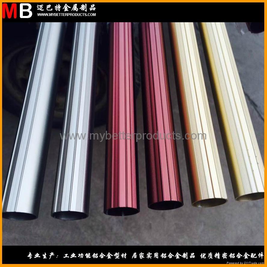 精鋸鋁合金管件可做多色陽極氧化表面處理  1