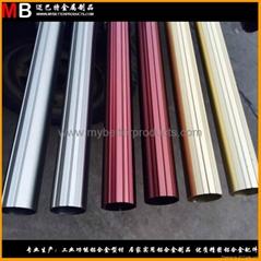 精鋸鋁合金管件可做多色陽極氧化表面處理