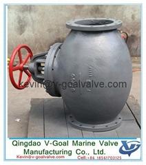 Marine Cast Iron Screw Down Steam Check Globe Valve JIS F7353 5K