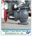 Marine Cast Iron Screw Down Steam Check Globe Valve JIS F7353 5K 1
