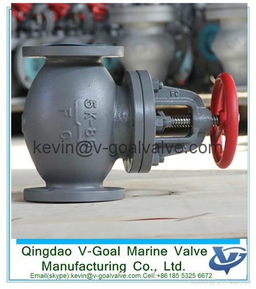 Marine Cast Iron Screw Down Steam Check Globe Valve JIS F7353 5K 4