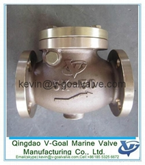 Bronze swing check valve JIS F7371