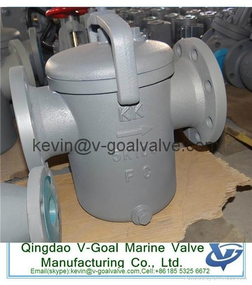 Cast iron marine filter marine strainer JIS standard F7121 1