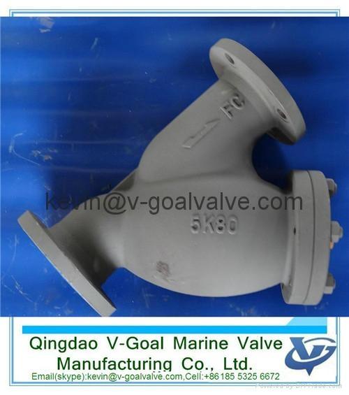 Cast iron marine filter marine strainer JIS standard F7121 2