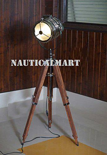 Classic Designer chrome Finish Spotlight Searchlight With Tripod Floor Stand 1