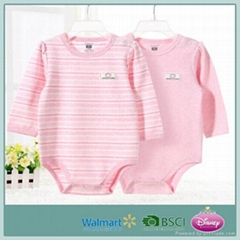 2017 new design baby romper eco-friendly orgenic cotton baby clothes