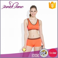 Breathable fitness clothing sports wear sexy bra and panty new design