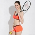 Breathable fitness clothing sports wear sexy bra and panty new design 3