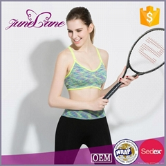 Wholesale gym wear breathable sexy crane sports wear bra and panty set