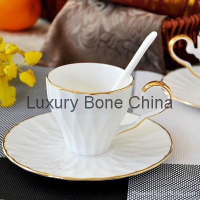 White Fine Bone China Cup and Saucer Set Coffee Set Tea Set Wholesale 1