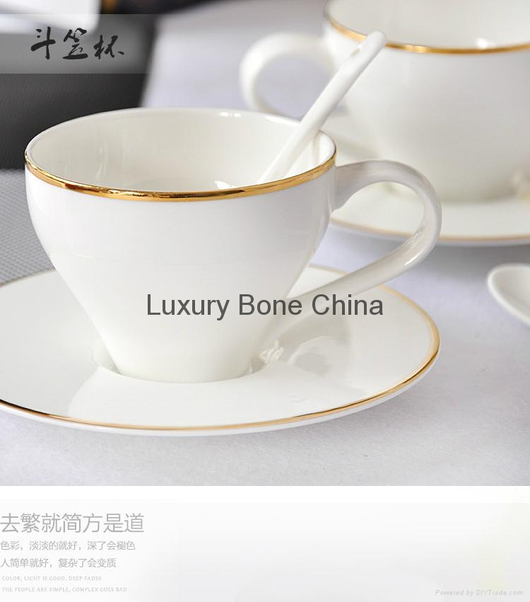 White Fine Bone China Cup and Saucer Set Coffee Set Tea Set Wholesale 2