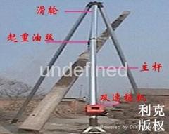 鋁合金三角架立杆機