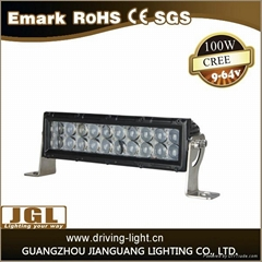 4D waterproof double row led light bar 8000lm 100w led driving light