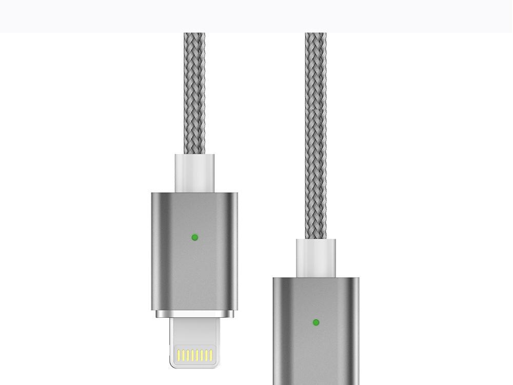 苹果7安卓磁吸数据线 三星小米华为通用2A编织盲插磁性磁力充电线 3