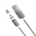 苹果7安卓磁吸数据线 三星小米华为通用2A编织盲插磁性磁力充电线 5