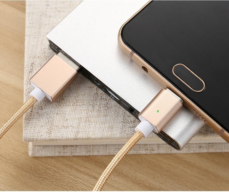 苹果7安卓磁吸数据线 三星小米华为通用2A编织盲插磁性磁力充电线 6