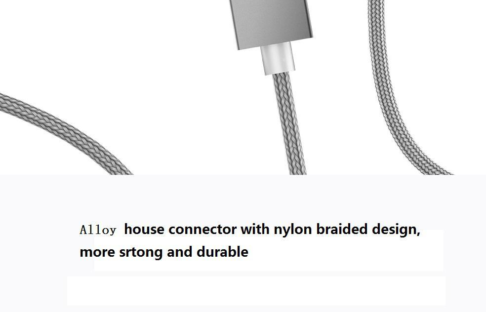 苹果7安卓磁吸数据线 三星小米华为通用2A编织盲插磁性磁力充电线 8