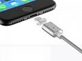 苹果7安卓磁吸数据线 三星小米华为通用2A编织盲插磁性磁力充电线 4
