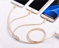 一拖三多功能数据线iPhone5s 6多头安卓乐视type-c充电线器 2