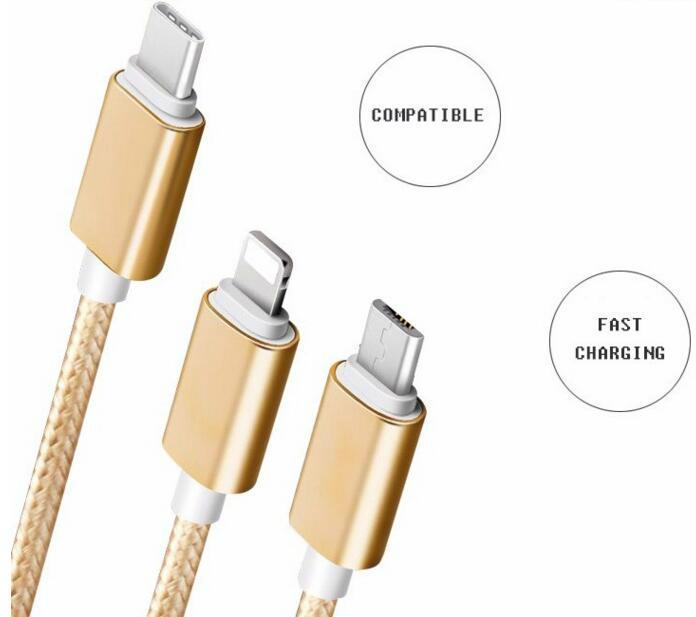 一拖三多功能数据线iPhone5s 6多头安卓乐视type-c充电线器 3