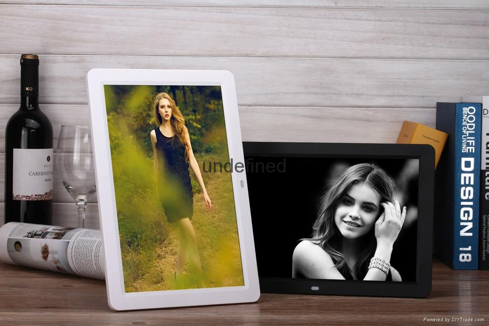"Wholesale ""10"" 12"" 15"" inch digital photo frame 10""Inch AD. promotion Gift frame 3"